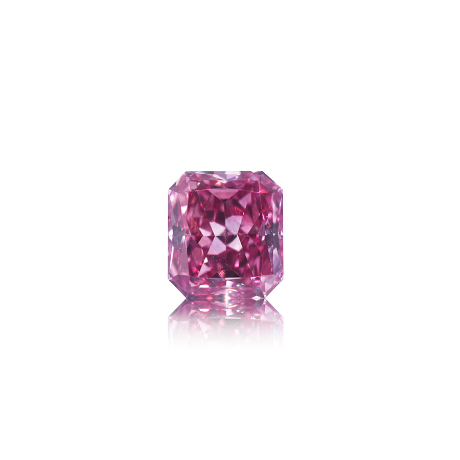 Argyle Pink Tender radiant-cut diamant 0,57 ct. 3PP/VS1