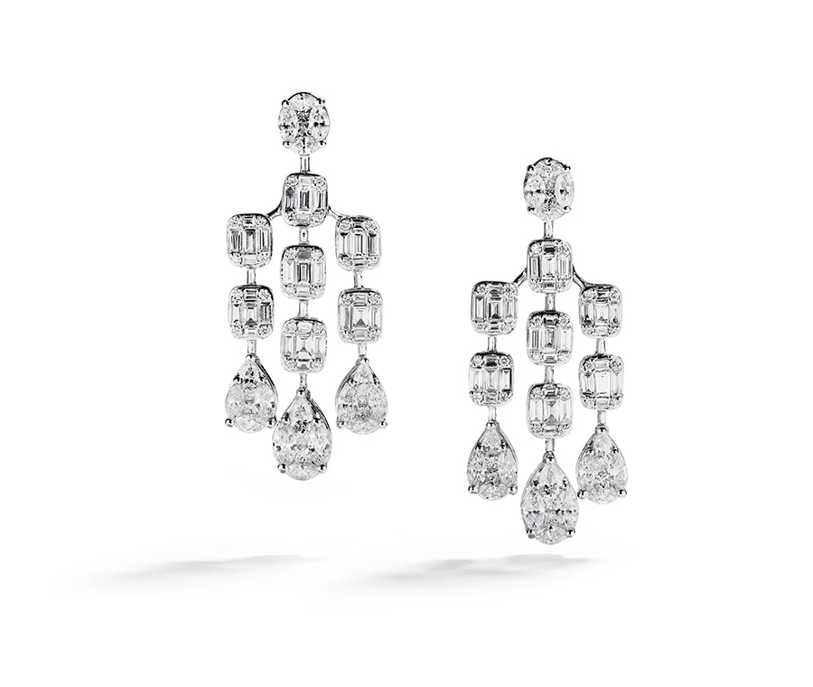 Diamant chandeliers med 174 diamanter