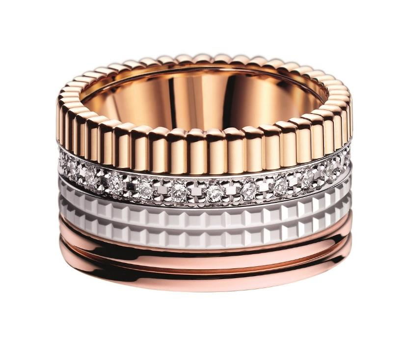Boucheron Quatre Radiant ring i rosaguld med 0,51 ct. brillanter