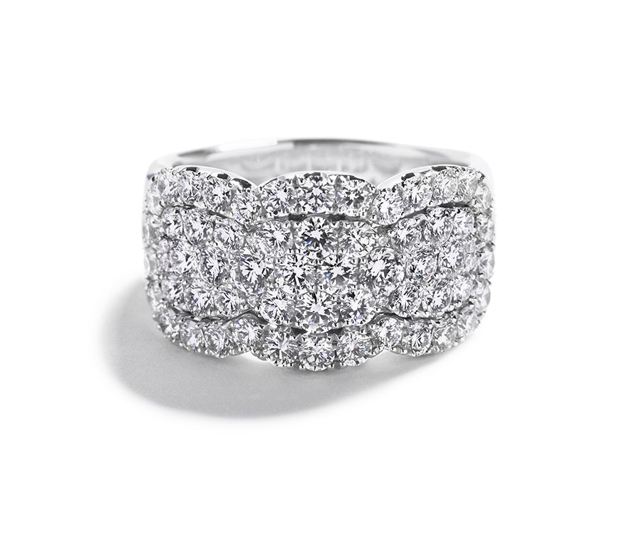 Pavé diamantring med 2,26 ct. brillanter