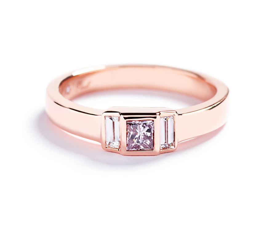Diamantring med Argyle Pink diamant