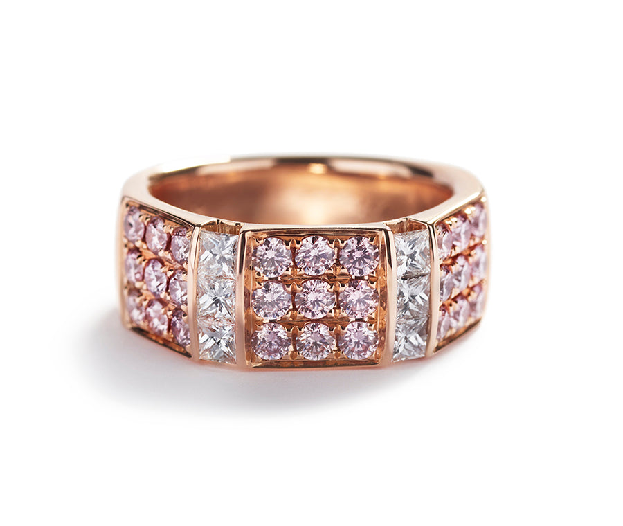 Diamant ring med 1,18 ct. Argyle Pink diamanter