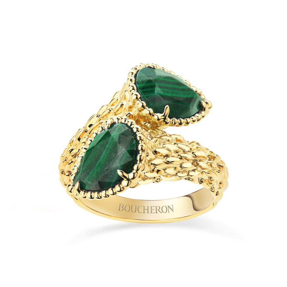 Boucheron Serpent Bohème Couleur ring med 5,20 ct. malakit