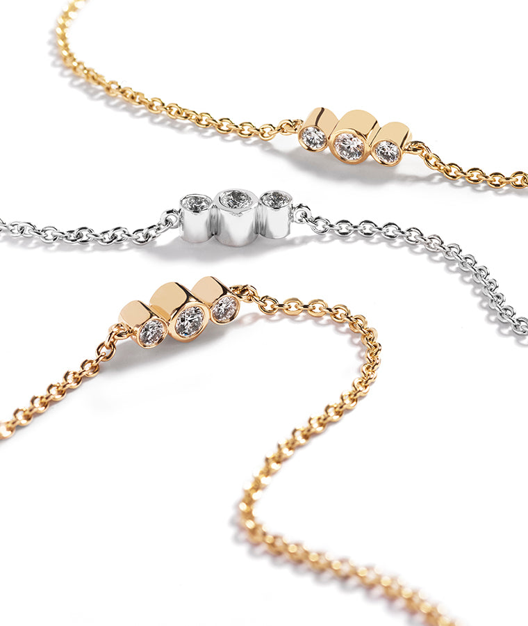 Signature chain (90 cm) with 2.19ct of brilliant cut diamonds