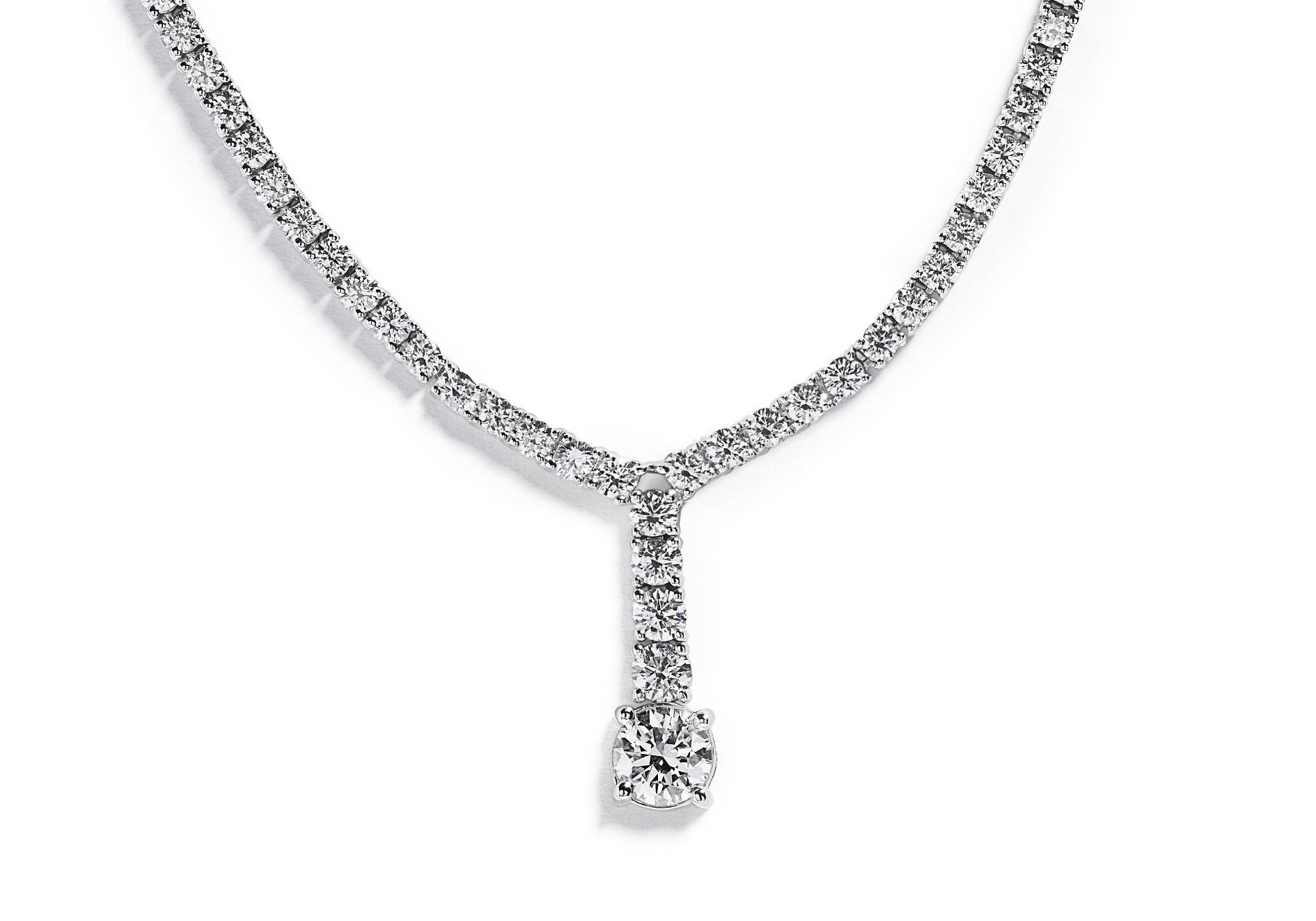 Diamantcollier med 4,55 ct. diamanter