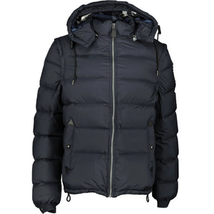 Burberry 'Basford' Detachable Sleeve Hooded Down Jacket Navy - chancefashionco