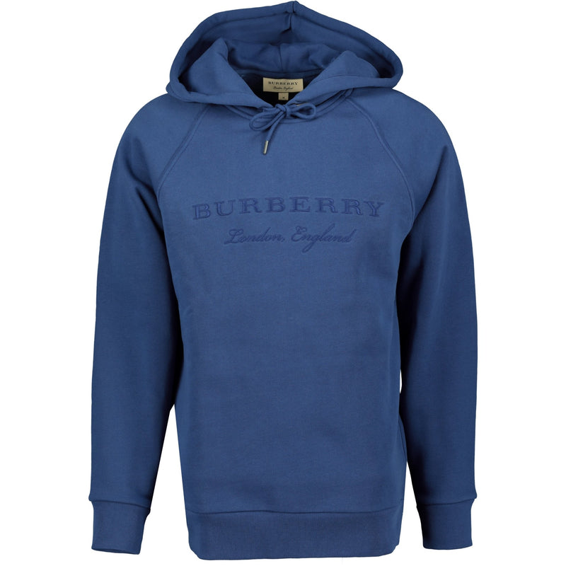 Burberry London England Embroidery Hooded Sweatshirt Blue - chancefashionco