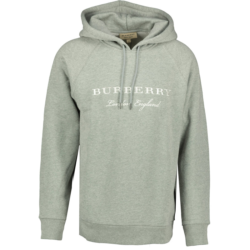 Burberry London England Embroidery Hooded Sweatshirt Grey - chancefashionco