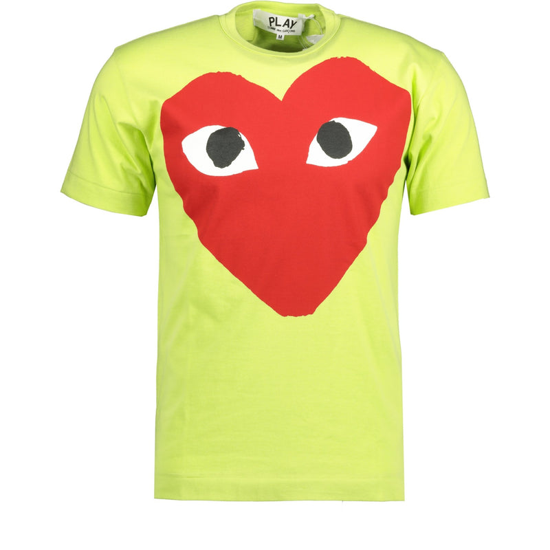 Comme Des Garcons Play Red Heart Logo T-Shirt - chancefashionco
