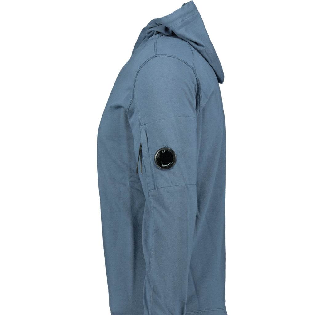 CP Company Arm Lens Hoodie Blue - chancefashionco