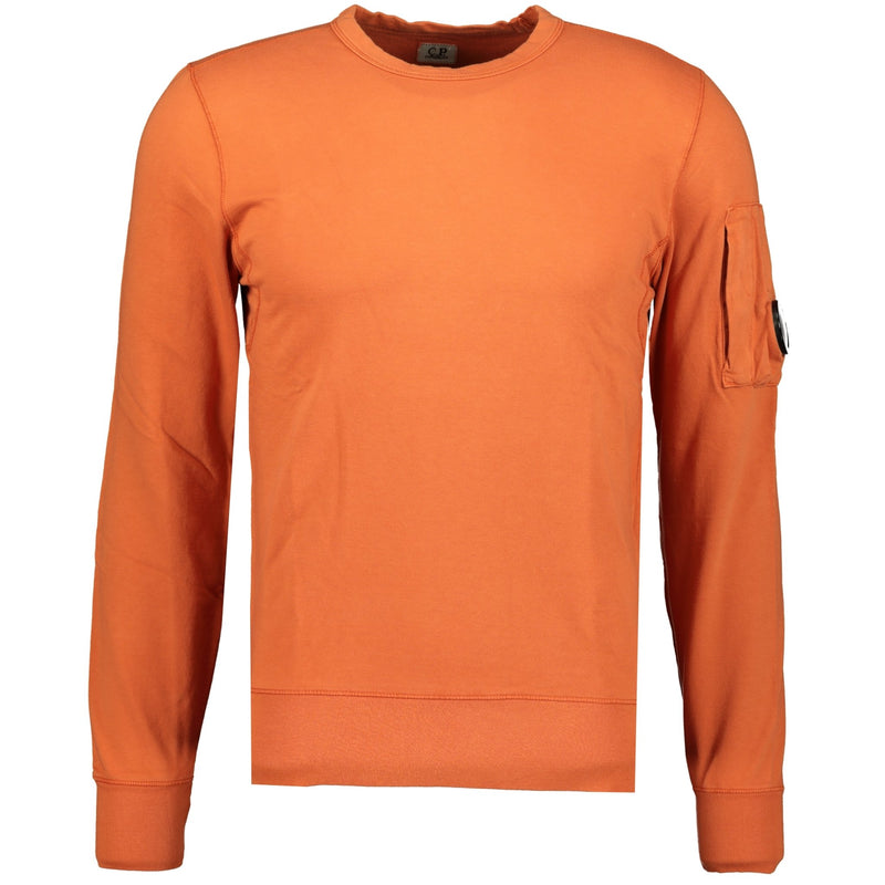 CP Company Arm Lens Sweatshirt Burnt Orange - chancefashionco
