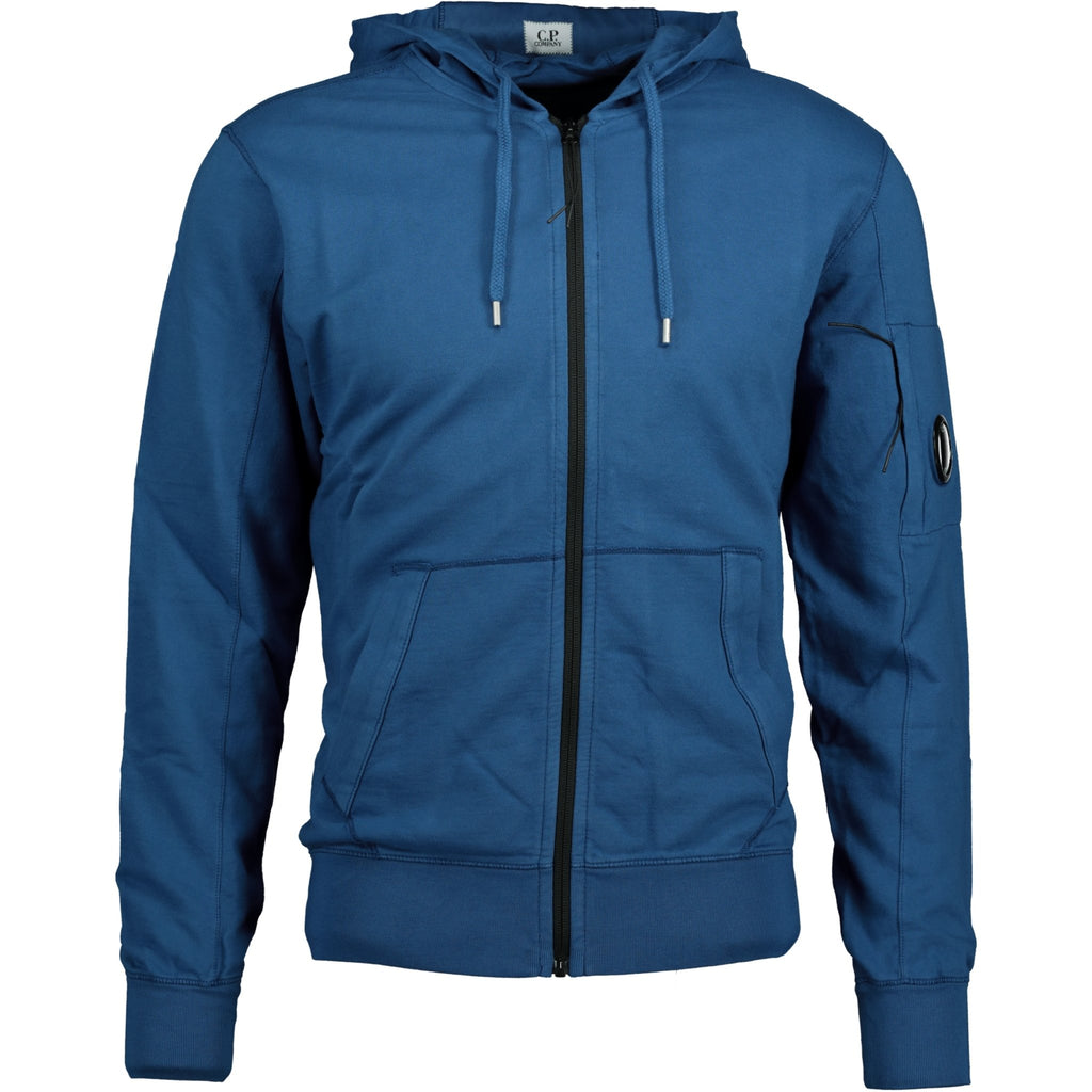 CP Company Arm Lens Zip-Up Hoodie Blue - chancefashionco