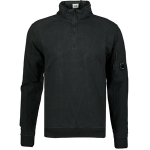 CP Company Arm Lens Zip Up Sweatshirt Black - chancefashionco