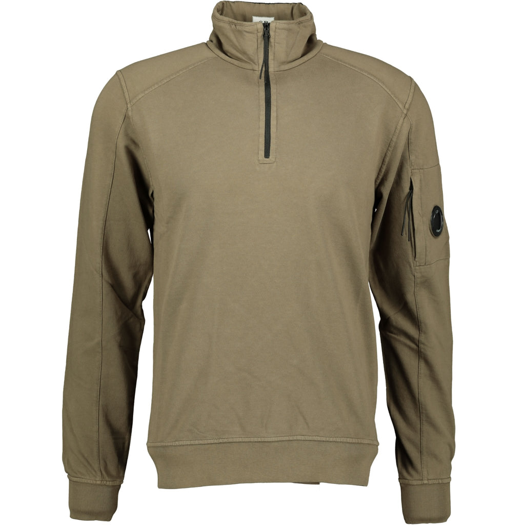 CP Company Arm Lens Zip Up Sweatshirt Khaki - chancefashionco
