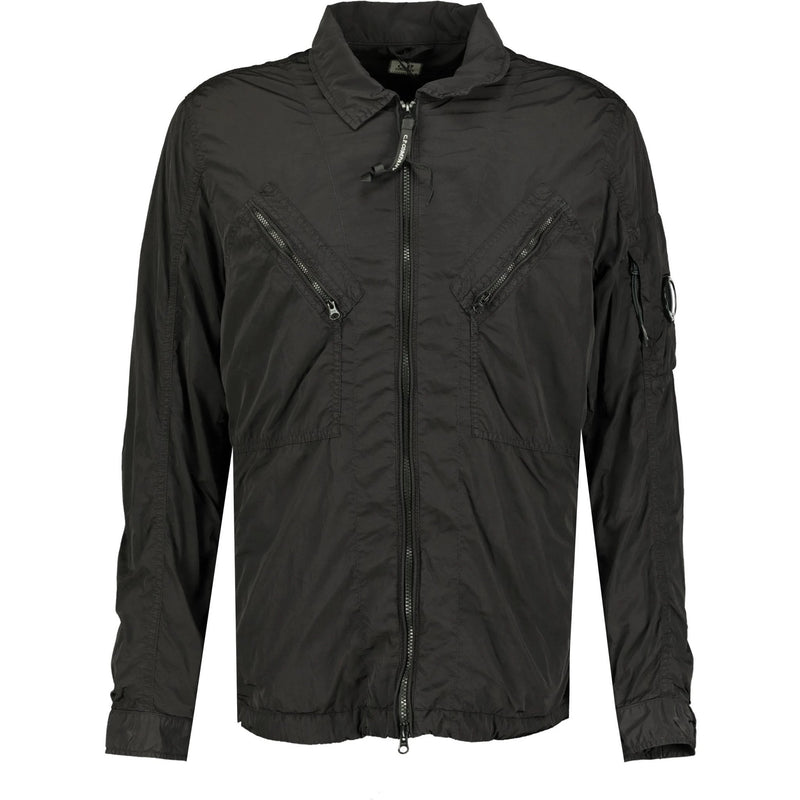 CP Company Chrome Lens Overshirt Jacket Black - chancefashionco