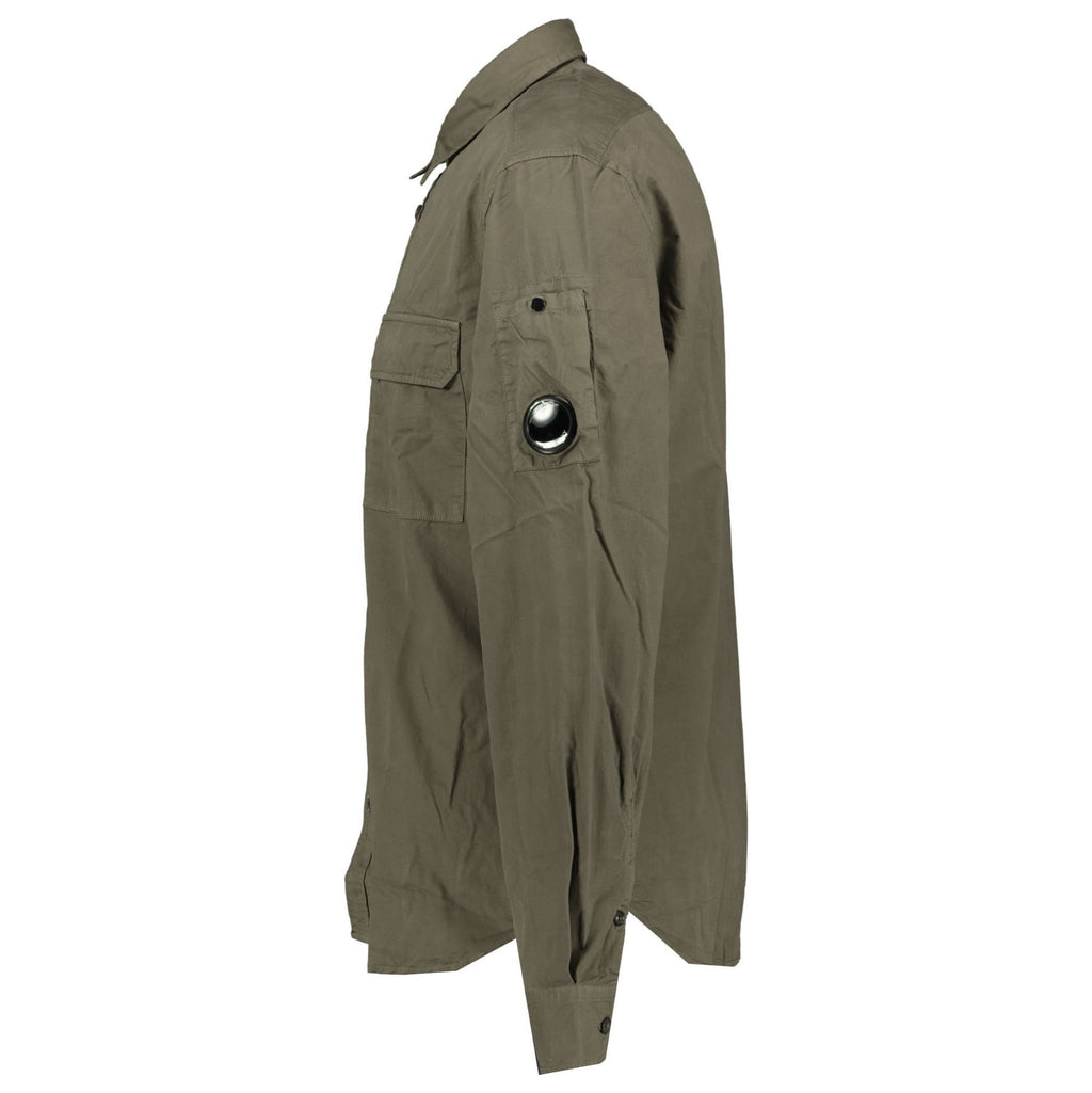 CP Company Khaki Watch-Viewer Overshirt - chancefashionco