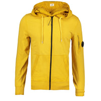 CP Company Re-Colour Arm Lens Zip-Up Hoodie Yellow - chancefashionco