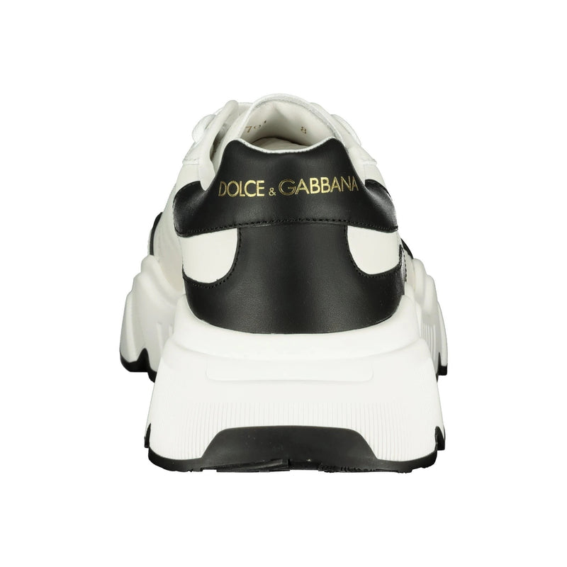 Dolce & Gabbana Leather Daymaster White Sneakers - chancefashionco