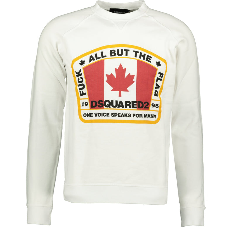 DSquared2 Canadian Flag Logo Sweatshirt White - chancefashionco