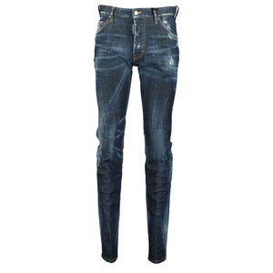 You added <b><u>DSquared2 Cool Guy Navy Tab Black Paint Slim Fit Jeans</u></b> to your cart.