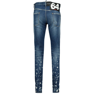 Dsquared2 Cool Guy White Paint Distressed Slim Fit Jeans - chancefashionco