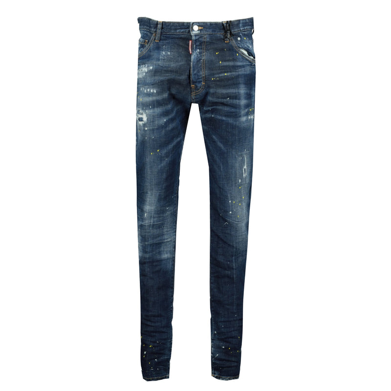 DSquared2 Cool Guy Yellow Paint Slim Fit Jean - chancefashionco