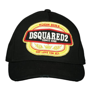 Dsquared2 Embroidered Black Cap - chancefashionco