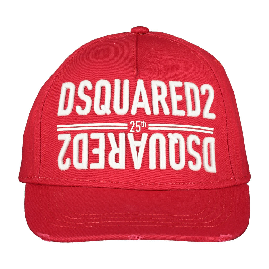 Dsquared2 Embroidered Red Cap - chancefashionco