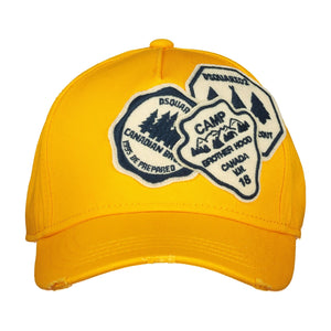 Dsquared2 Embroidered Yellow Cap - chancefashionco