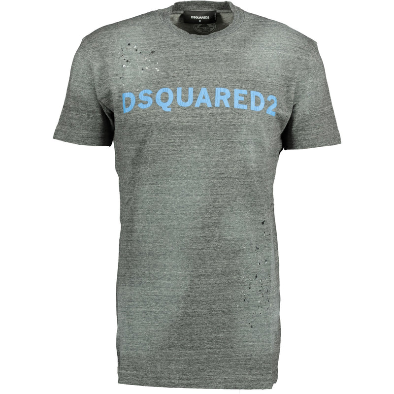Dsquared2 Grey Marl Paint Splatter T-Shirt - chancefashionco