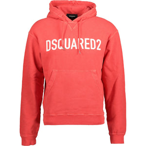 DSquared2 Hooded Sweatshirt Light Red - chancefashionco
