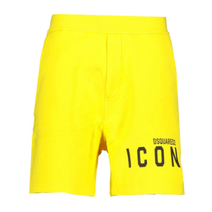 DSquared2 ICON Shorts Yellow - chancefashionco