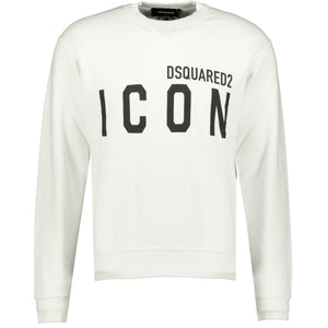 DSquared2 ICON Sweatshirt White - chancefashionco