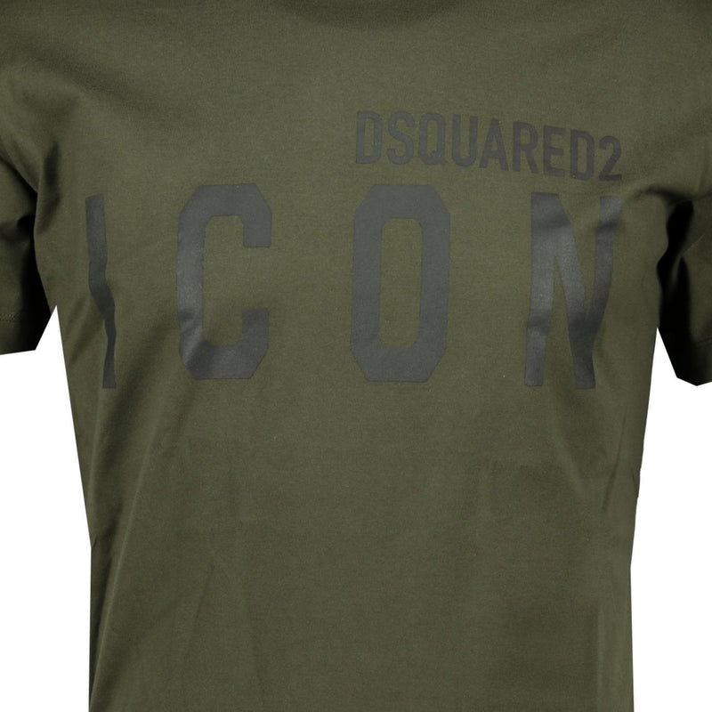Dsquared2 'ICON' T-Shirt Khaki - chancefashionco