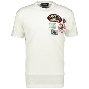 Dsquared2 Logo Embroidery T-Shirt White - chancefashionco