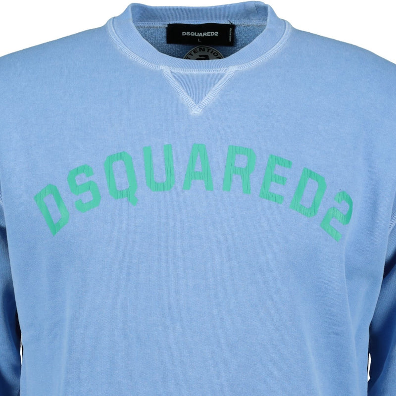 DSquared2 Logo Print Sweatshirt Blue - chancefashionco