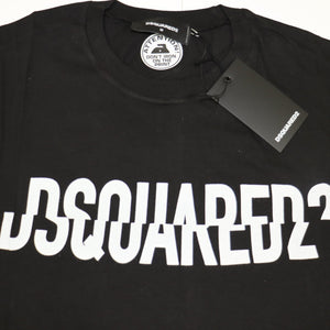 Dsquared2 Logo Printed Oversized T-Shirt Black - chancefashionco