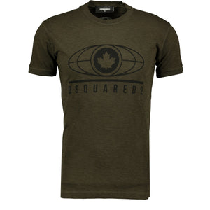 Dsquared2 Logo Printed T-Shirt Khaki - chancefashionco