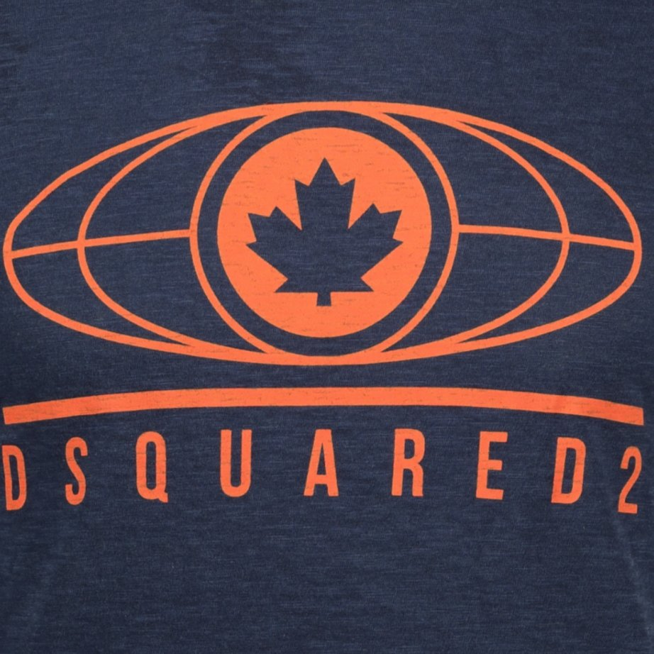 Dsquared2 Logo Printed T-Shirt Navy - chancefashionco