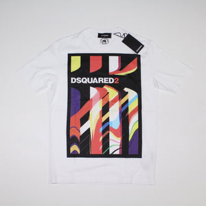 Dsquared2 Logo Printed T-Shirt White - chancefashionco
