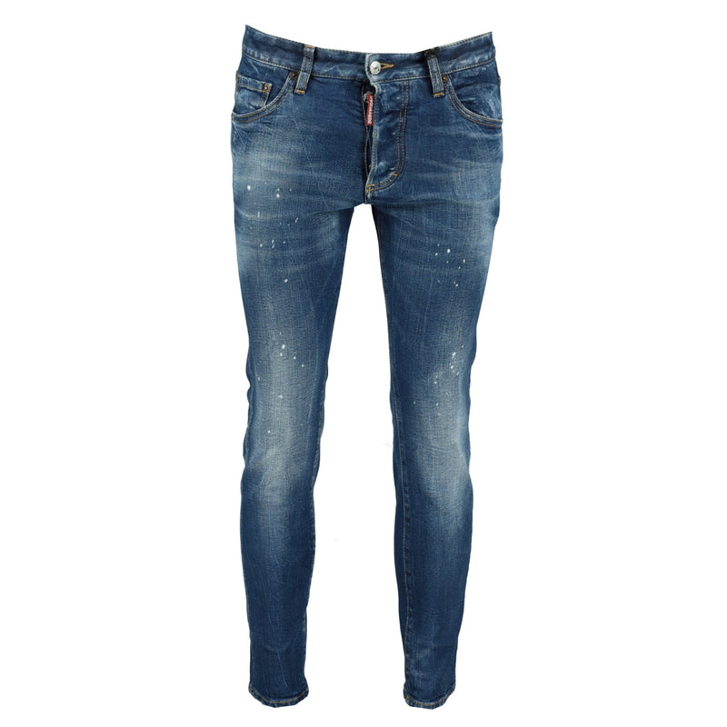 Dsquared2 'Skinny Dan' Distressed Paint Splatter Jeans - chancefashionco