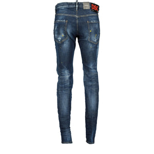 DSquared2 Slim Fit Yellow Paint Splatter Jeans - chancefashionco