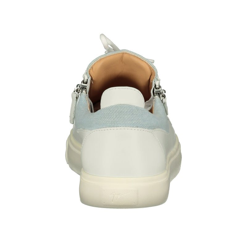 Giuseppe Zanotti Canvas Sneakers White & Blue - chancefashionco