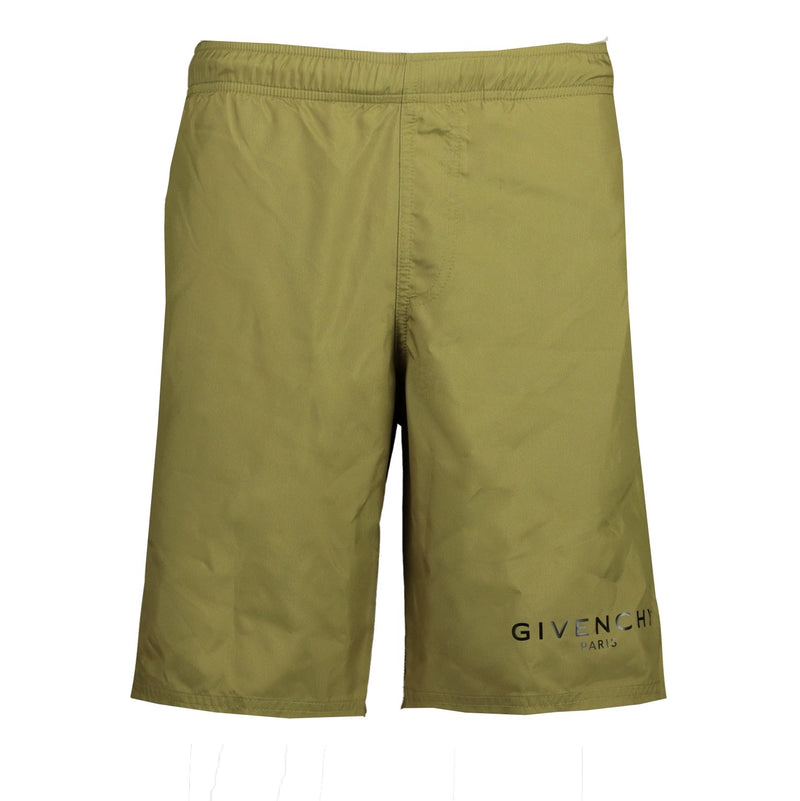Givenchy Logo Swim Shorts Long Khaki - chancefashionco