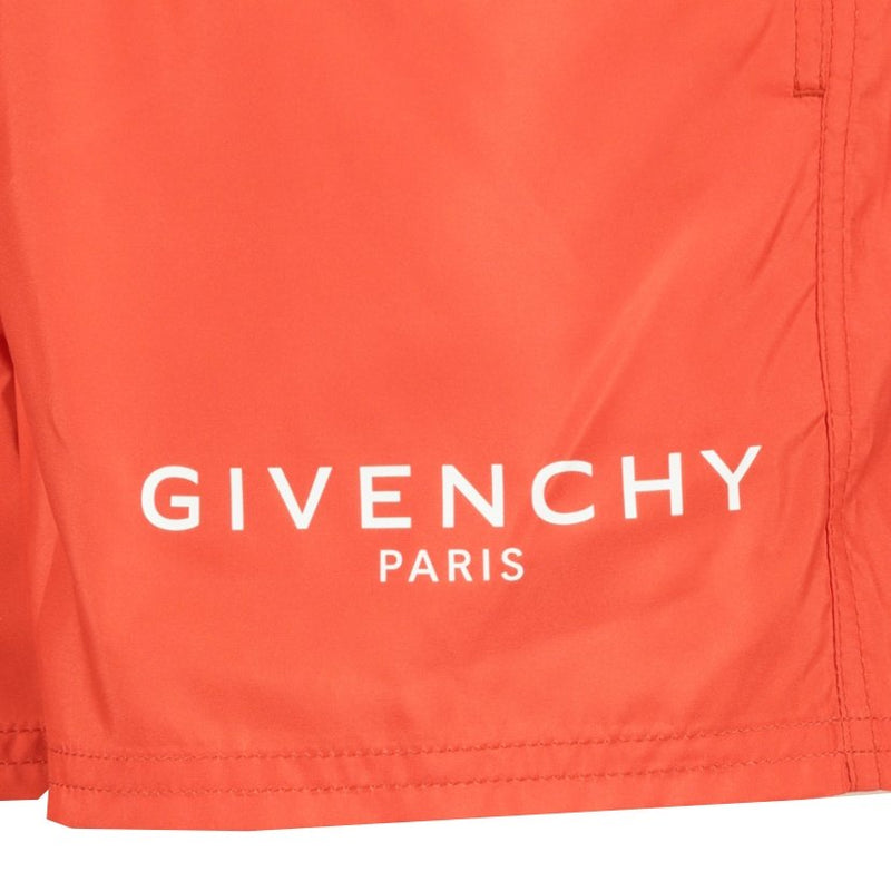 Givenchy Logo Swim Shorts Orange - chancefashionco