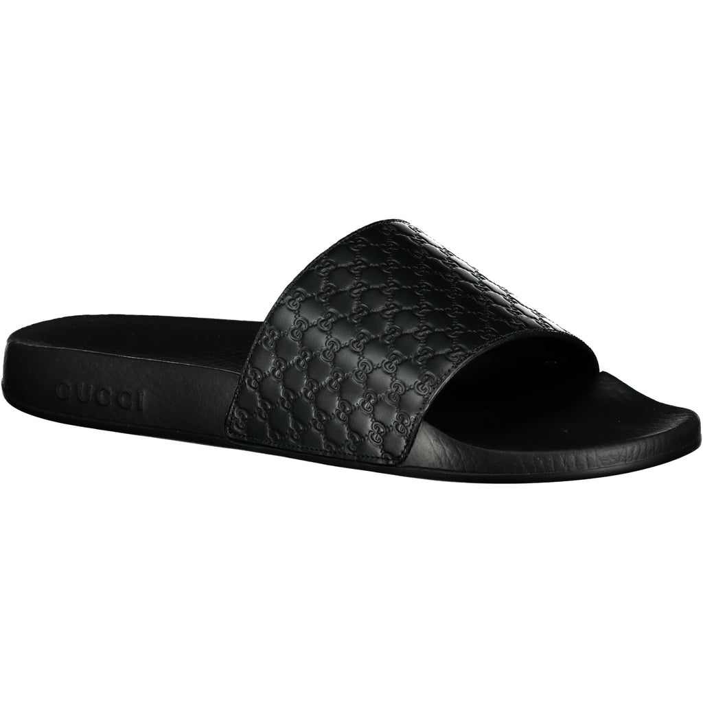 Gucci 'GG' Print Sliders Black - chancefashionco