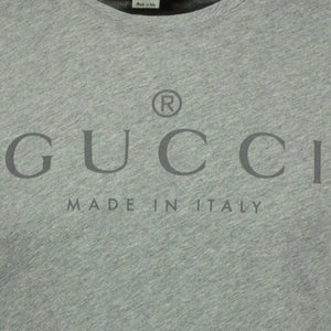 Gucci Print Logo T-Shirt Light Grey - chancefashionco