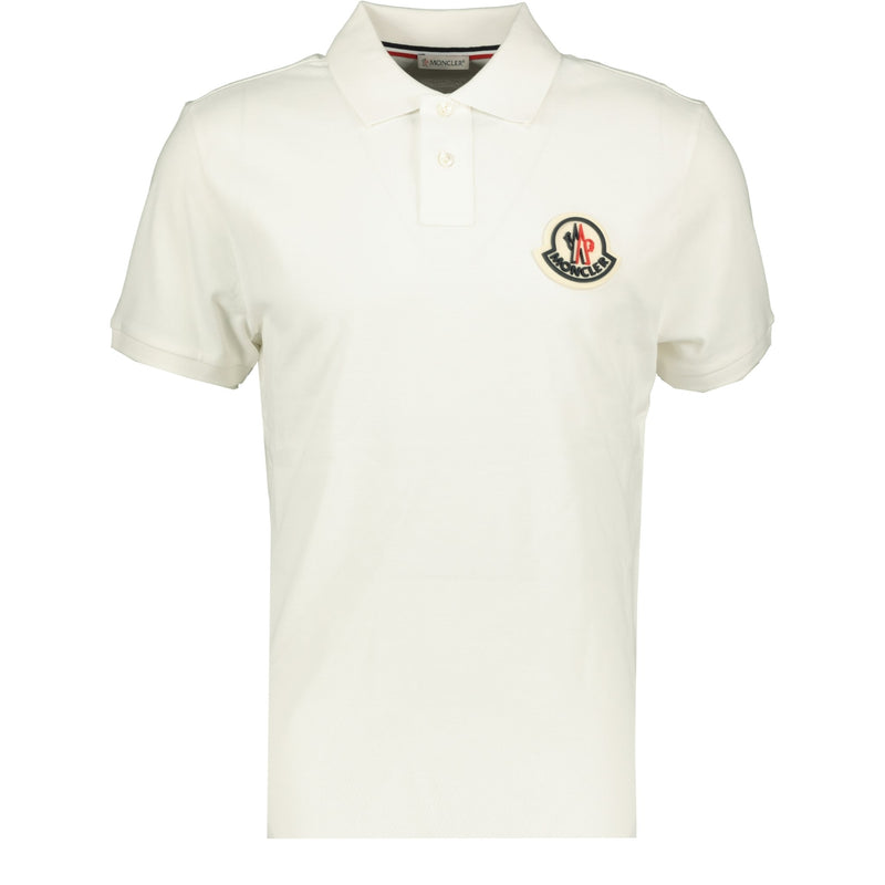 Moncler Big Logo Cotton Polo White - chancefashionco
