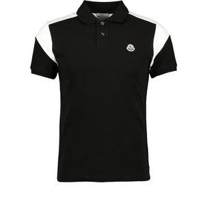 Moncler Cotton Polo Black - chancefashionco