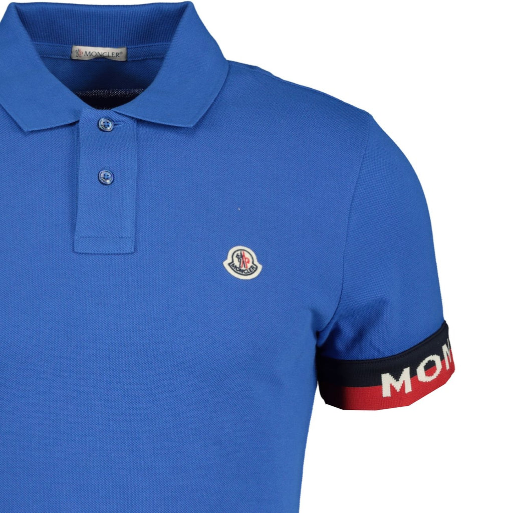 Moncler Logo Cotton Polo Blue - chancefashionco